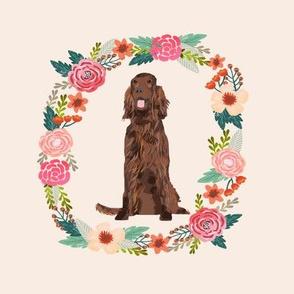 8 inch irish setter wreath florals dog fabric