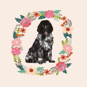 8 inch newfoundland wreath florals dog fabric