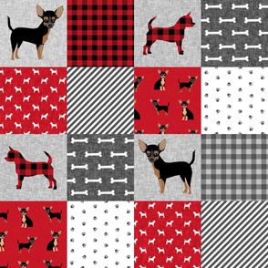 chihuahua black and tan pet quilt a cheater quilt collection dog fabric