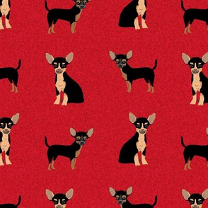 chihuahua black and tan pet quilt a cheater quilt collection coordinate dog fabric