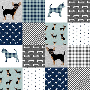 chihuahua black and tan pet quilt b cheater quilt collection dog fabric