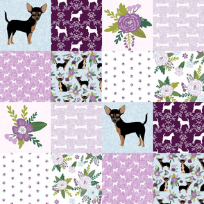 chihuahua black and tan pet quilt c cheater quilt collection dog fabric
