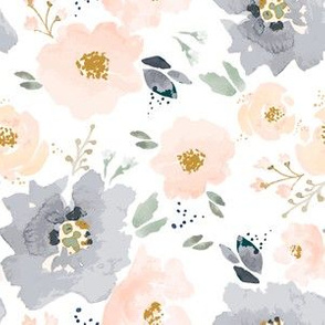 IBD-Peachy-Blossoms-Navy C