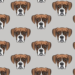 boxer face w/white on grey