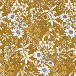 Wild Flowers in a Field Gold