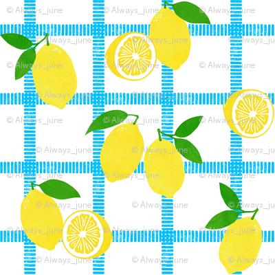 Lemon Picnic Plaid