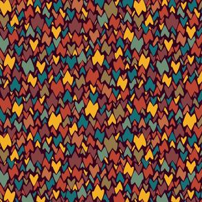 moroccan confetti on dark Tyrian purple