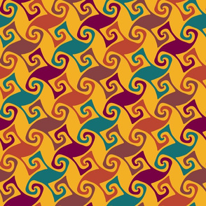 moroccan trellis - colorful