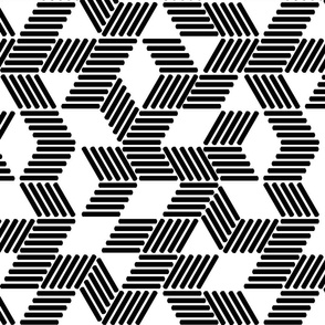 Geometric Maze_black stripes