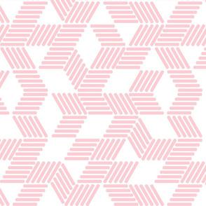 Geometric Maze_Blush Stripes