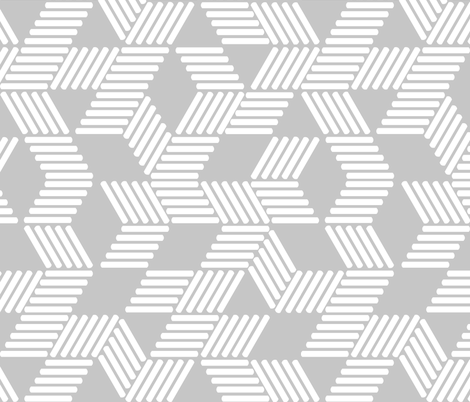 Geometric Maze_White Stripes on Gray fabric by always_june on Spoonflower - custom fabric