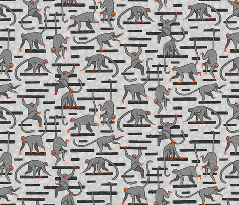 Monkeys in the Jungle fabric by danlehman on Spoonflower - custom fabric