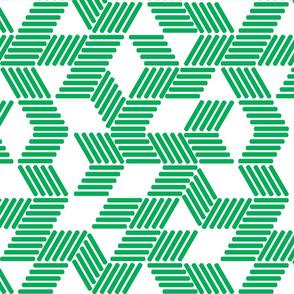Geometric Maze_Green Stripes