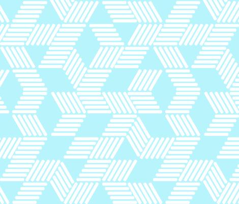 Geometric Maze_White Stripes on Sky Blue fabric by always_june on Spoonflower - custom fabric