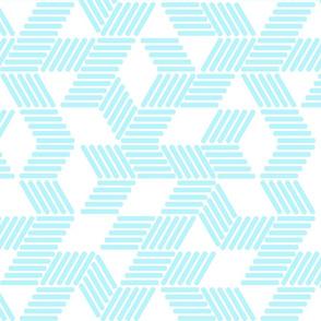 Geometric Maze_Sky Blue Stripes
