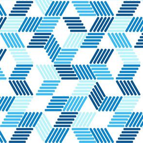 Geometric Maze_tropical blues