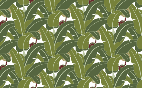 Banana Leaves - Medium fabric by chica_and_jo on Spoonflower - custom fabric