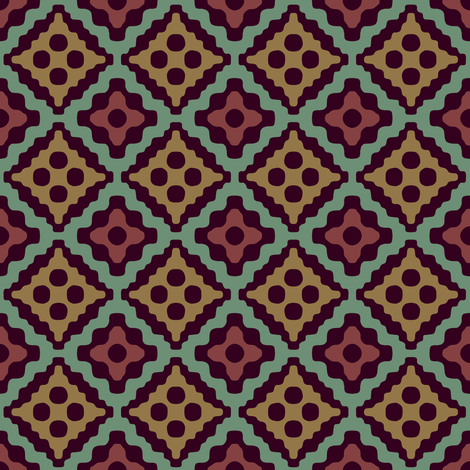 Moroccan diamonds - purpleheart fabric by weavingmajor on Spoonflower - custom fabric