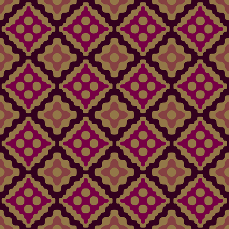 Moroccan diamonds - red and brown fabric by weavingmajor on Spoonflower - custom fabric