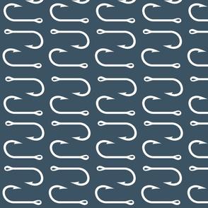 fish hooks (rotated 90) - Slate - LARGE scale