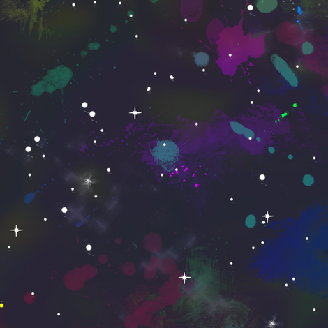 Splatter Space Large fabric by amber_morgan on Spoonflower - custom fabric