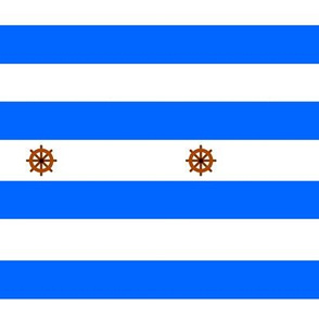 Nautical stripes ruuder boat - Rayures marines bleu gouvernail de bateau