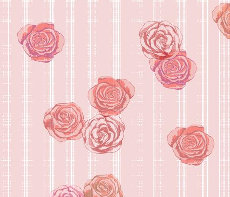 Romantic Roses Wallpaper fabric by mrshervi on Spoonflower - custom fabric