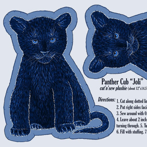 Panther Plushie N4 Joli