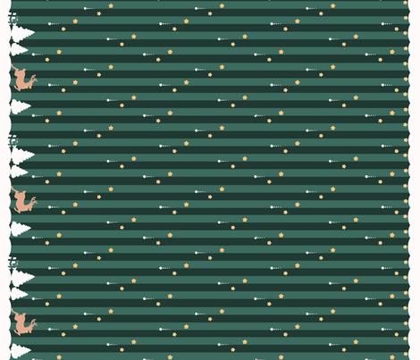 Winter Wonderland Green Striped fabric by yepa on Spoonflower - custom fabric