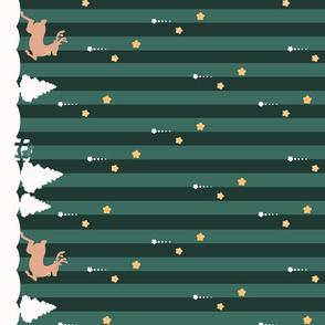 Winter Wonderland Green Striped