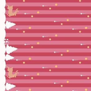 Winter Wonderland Pink Striped