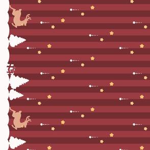 Winter Wonderland Red Striped