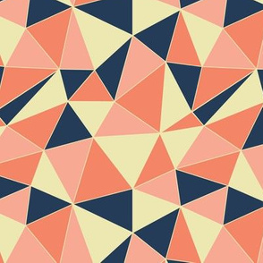 Retro Triangles - orange