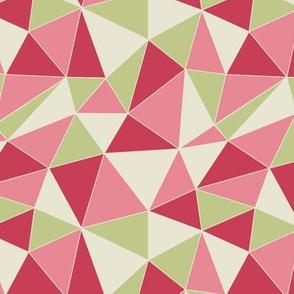 Retro Triangles - red