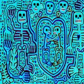 Dia de los Muertos Skeleton Lovers