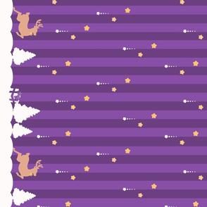 Winter Wonderland Purple Striped