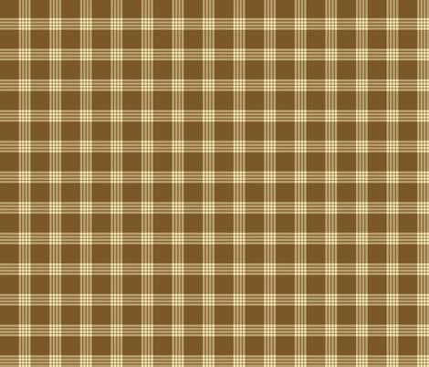Farmhouse Plaid Cream and Brown fabric by kedoki on Spoonflower - custom fabric