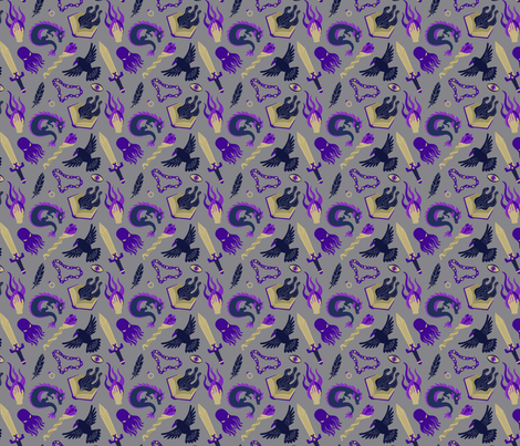 Warlock fabric by paolaspixels on Spoonflower - custom fabric