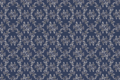 Silver Gum_New Seasons_Smaller_Navy Pop fabric by docious_designs_by_patricia_braune on Spoonflower - custom fabric