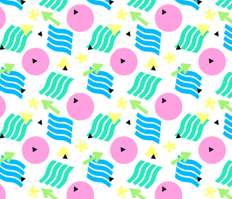 Memphis Style Playful Purple fabric by hollybender on Spoonflower - custom fabric