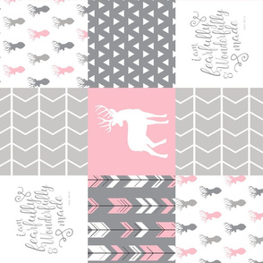 fearfully and wonderfully made patchwork (buck) - custom pink and grey  (90)