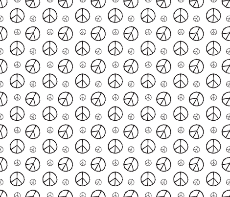 peace fabric by thepoonapple on Spoonflower - custom fabric