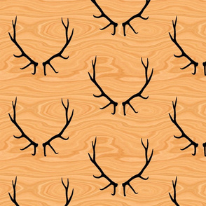 Elk Antlers // Light Wood Grain // Jumbo