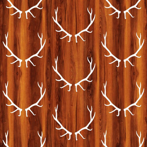Elk Antlers // Cherry Wood Grain // Large