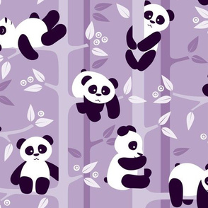 panda forest - lilac