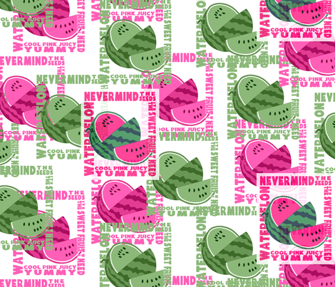 Nevermind the Seeds fabric by engravogirl on Spoonflower - custom fabric