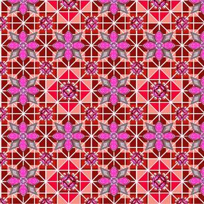 Jeweled Monocromatic ruby