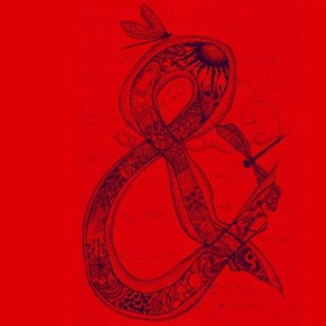 Ampersand doodling-Red