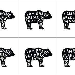 6 loveys: brave bear
