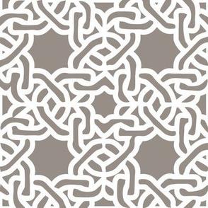 Modern moroccan tile greige links chain links
